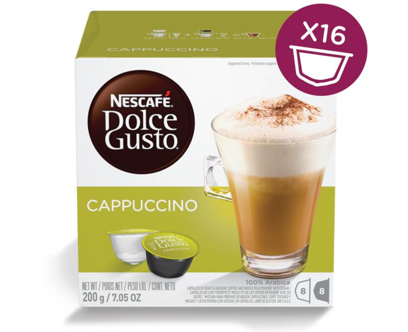 NESCAFÉ Dolce Gusto Cappuccino Coffee 16 Capsules Per Box