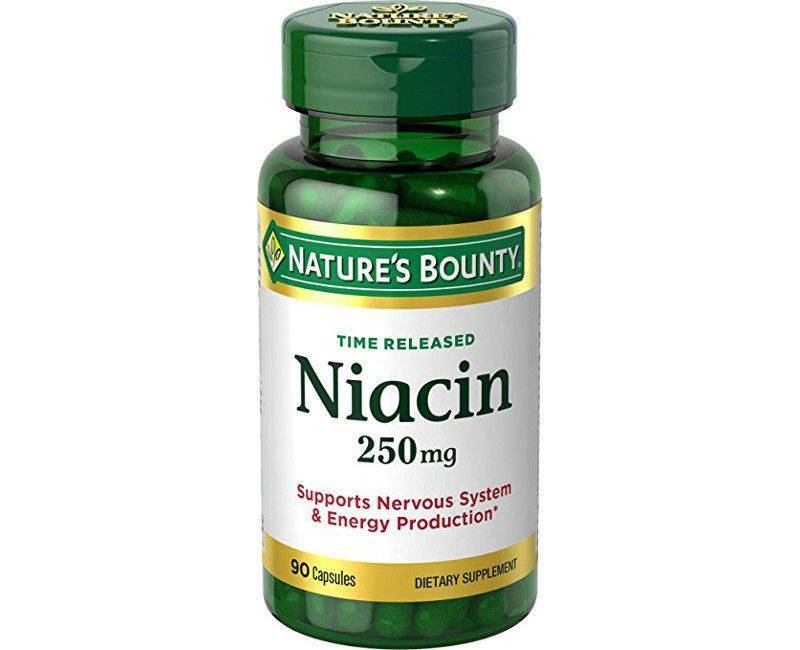 Nature's Bounty Niacin 250mg Time Released 90 Capsules For The Nervous System & Energy Production