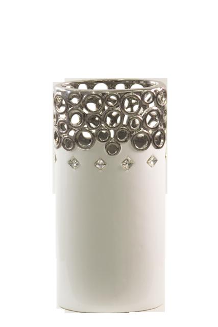 """Porcelain-Cutwork-Design-Oval-14""""-Vase"""