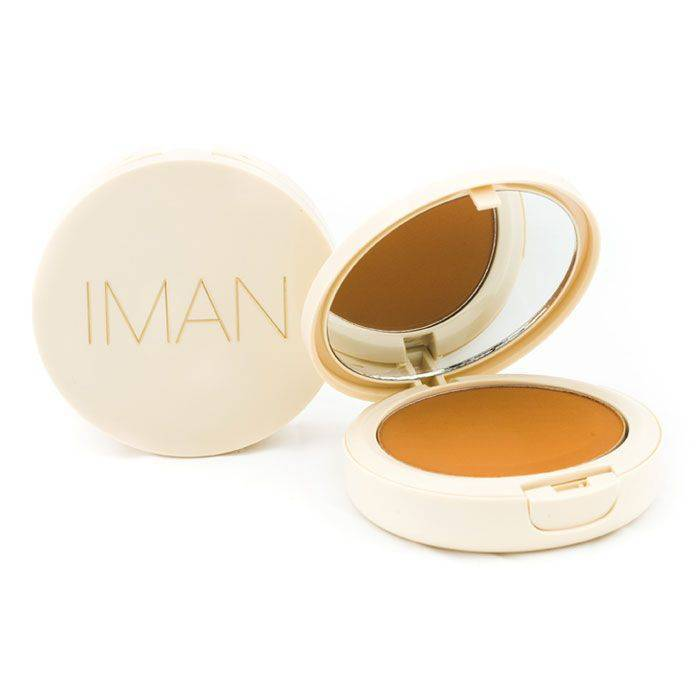 IMAN Oil-Blotting Pressed Powder, Medium