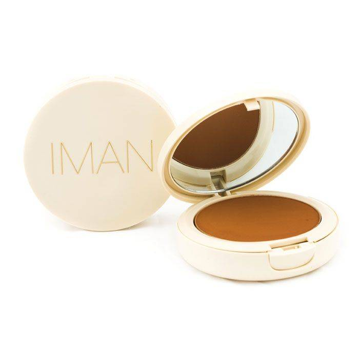 IMAN Oil-Blotting Pressed Powder, Dark