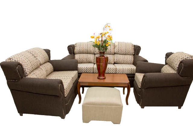 Living-room-setting-with-Rio-3-Piece-Beige-and-Brown-Sofa-Set