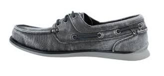 Skechers Eris Mens Canvas Boat Shoes in Black 64763-10