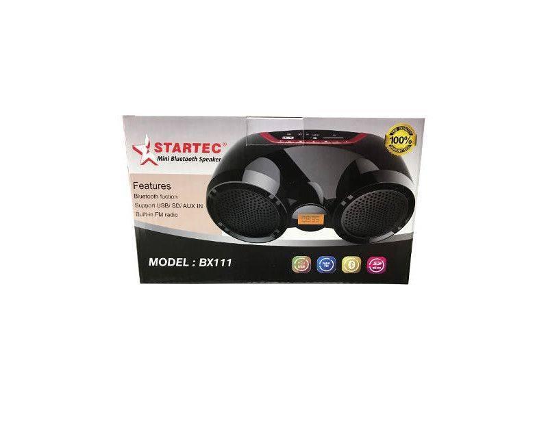 Startec Mini Portable Bluetooth Wireless Radio FM and USB Speaker Model: BX111