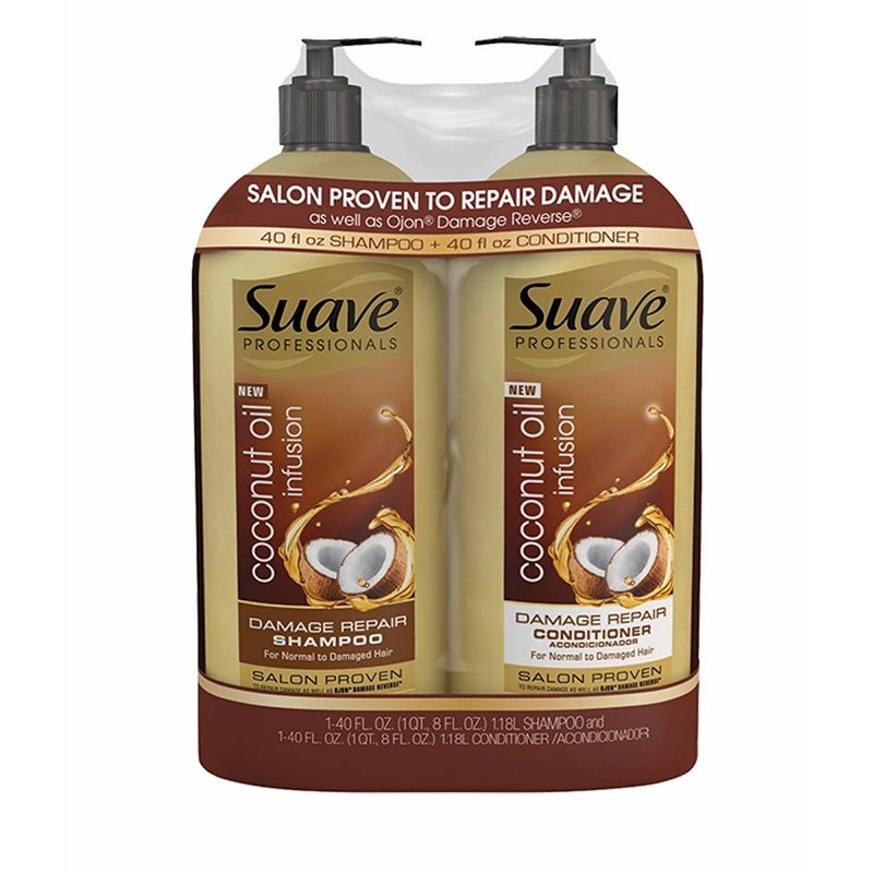 Suave Professionals Coconut Oil Infusion Shampoo and Conditioner 40 oz