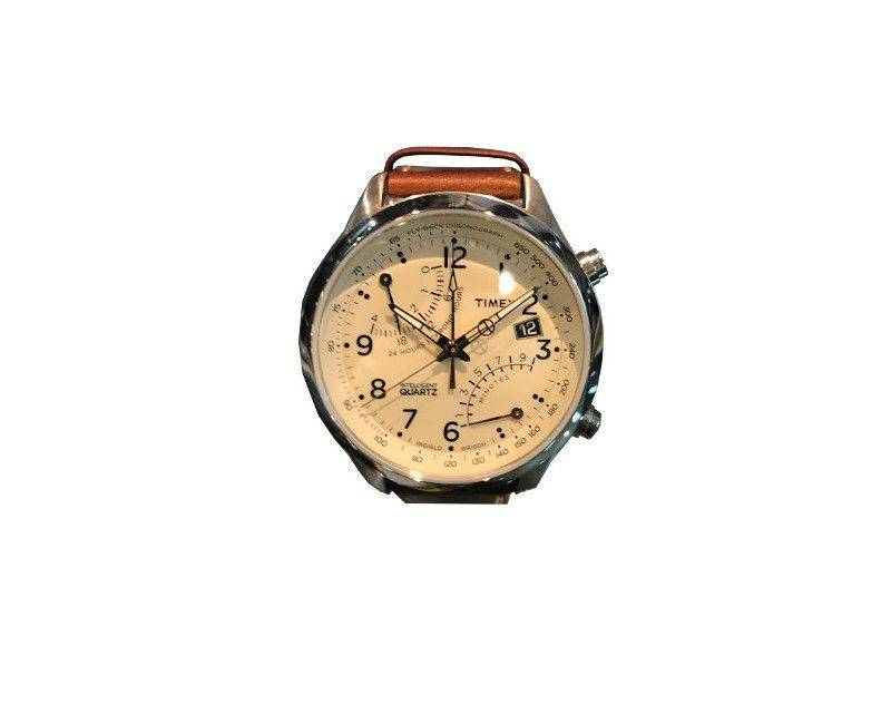 Timex Intelligent Quartz collection fly back chronograph movement with 2nd time zone and indigo night light