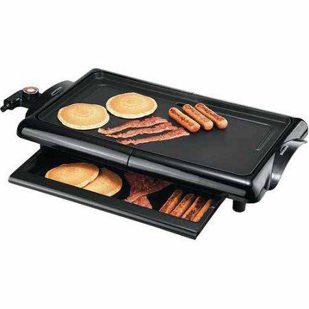 Brentwood Non Stick Electric Griddle With Warming Draw
