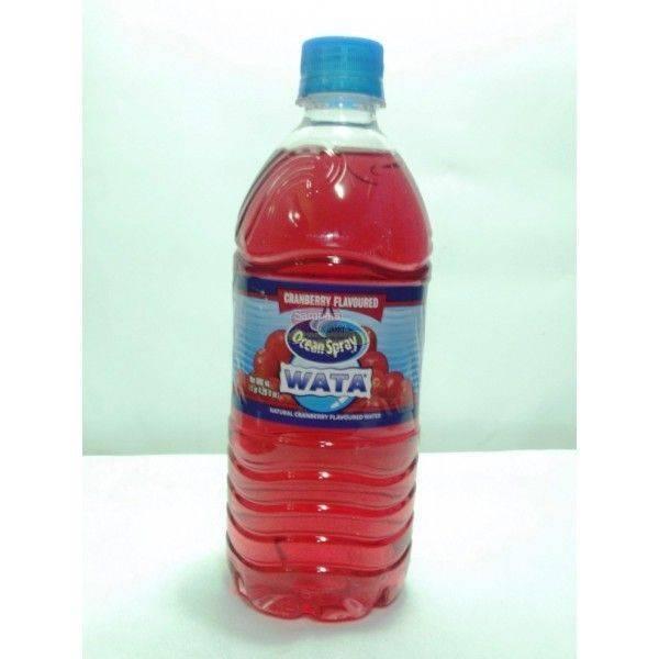 WATA Red Cranberry Flavoured Water 600ml
