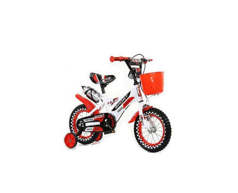 """16"""" sporty white with red bike"""