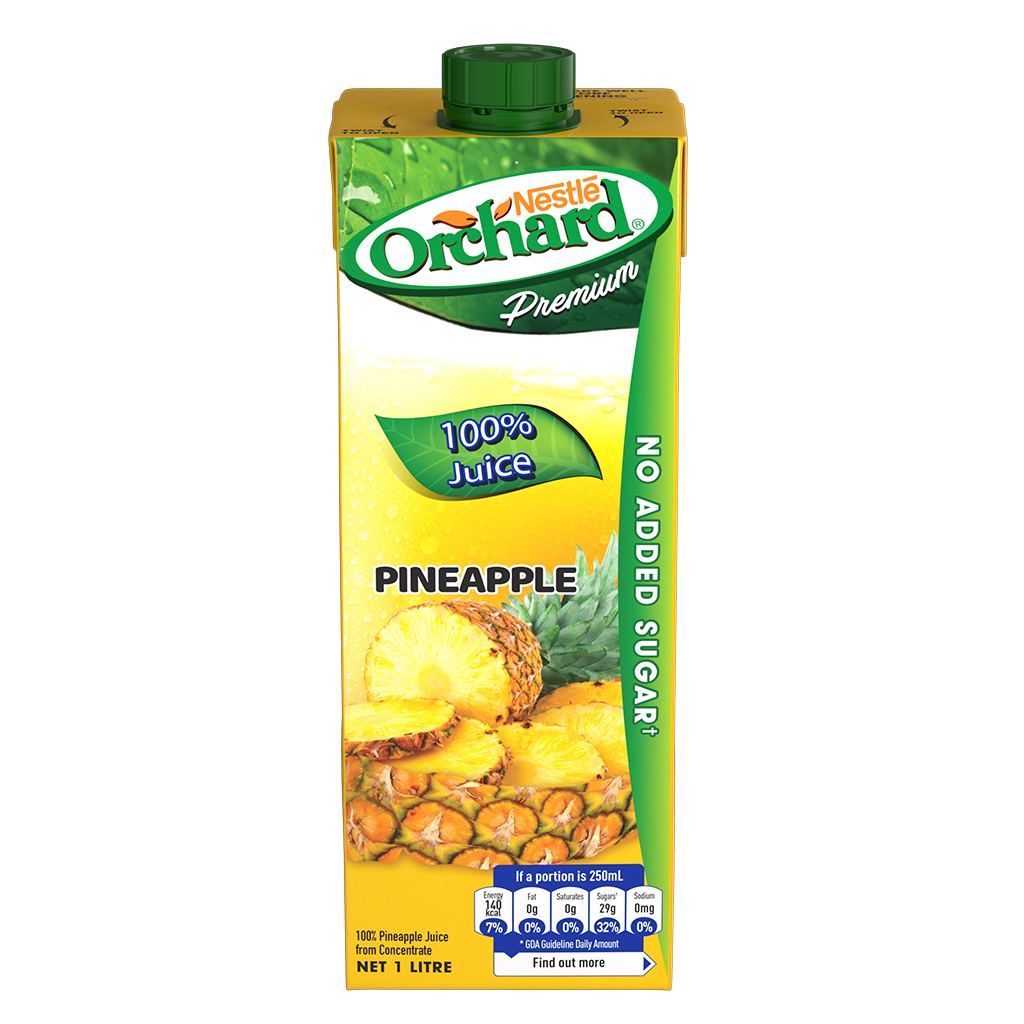 ORCHARD 100% Pineapple Juice 1L Carton