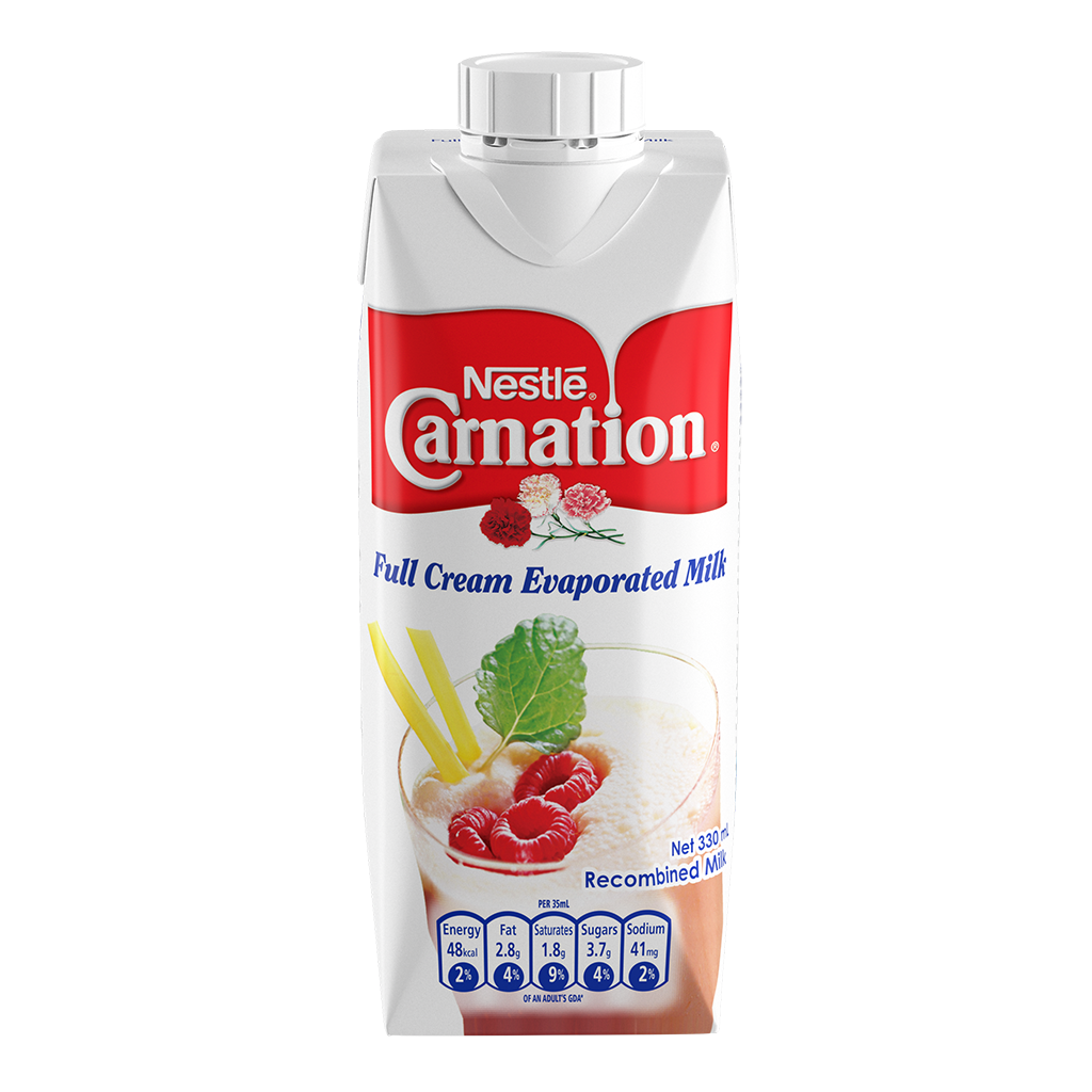 CARNATION Full Cream Evaporated Milk 330ml Carton