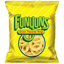 Chips Funnyun Onion Rings Snack 0.75 Ounces