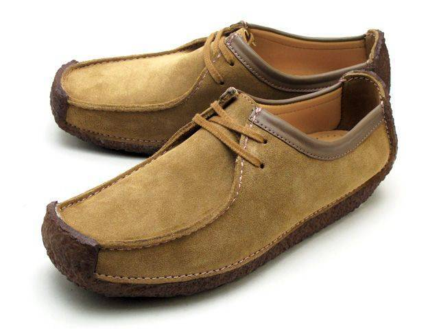 Clarks Natalie Oakwood Suede Moccasin Shoes for Men-10