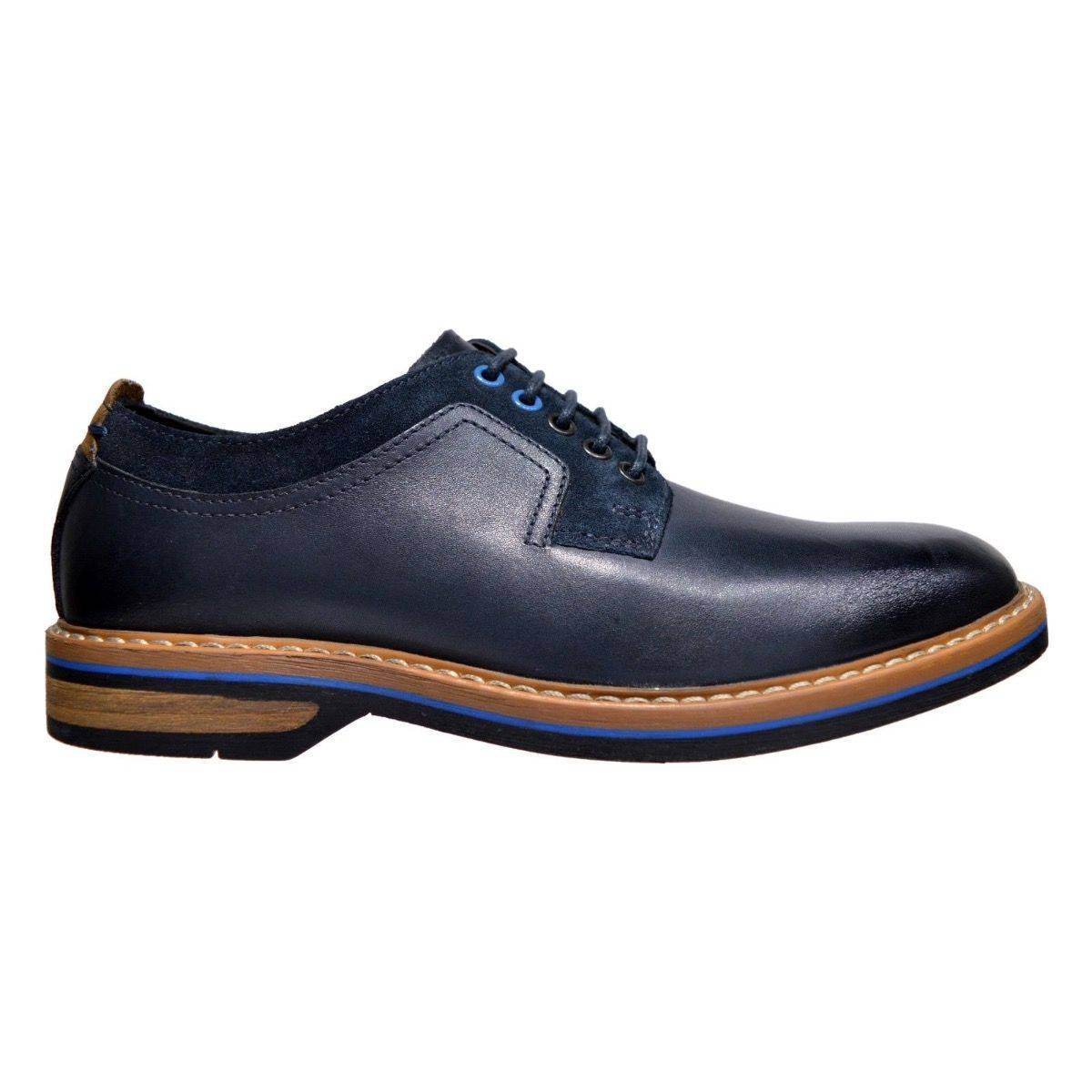 Clarks Pitney Walk Dark Blue lace up leather Mens Shoe-9.5