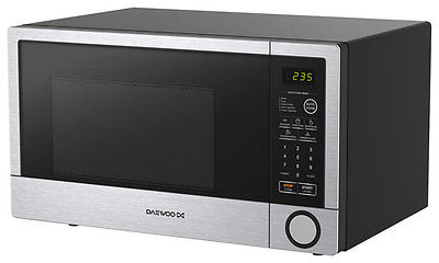 Side view of the Daewoo 1.1 Cubic Microwave Oven