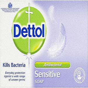 Front view of the Dettol Sensitive Bar Soap