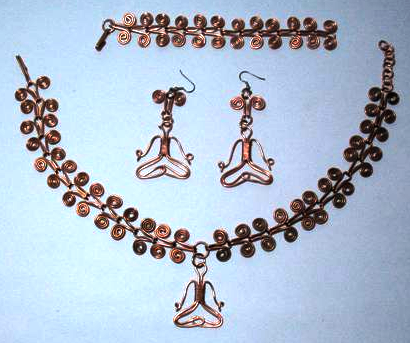 Egyptian Spiral Copper Necklace Set