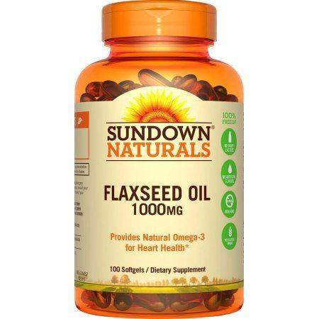 Sundown Naturals Flaxseed Oil 1000mg 100's - For A Healthy Heart