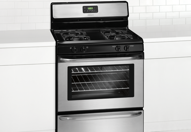 Frigidaire 30 Inch 4 Burner Gas Stove in wall bracket(not included)