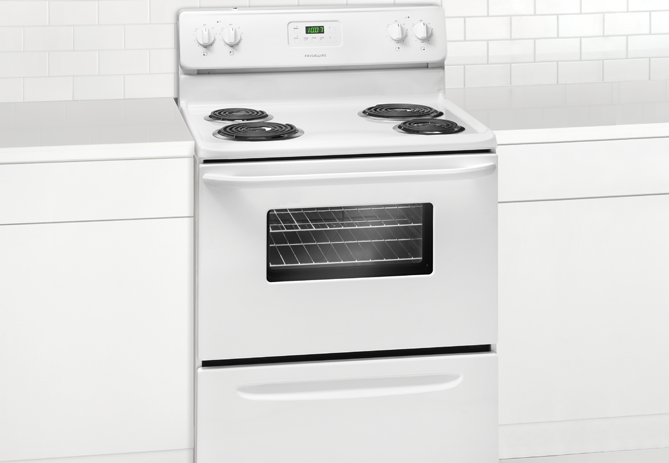 Frigidaire 30 Inch Coil Top Electric Stove in wall bracket(not included)