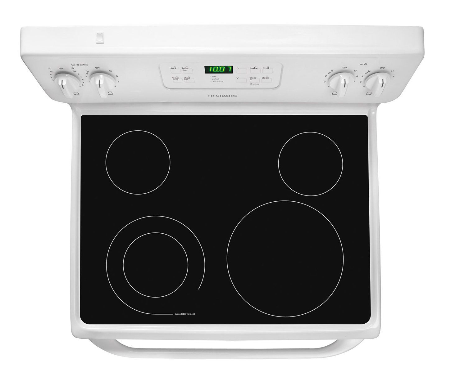 Top view of the Frigidaire 30 Inch Electric Coil Top Stove