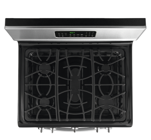 Frigidaire Gallery 30 Inch 5 Burrner Gas Stove top view