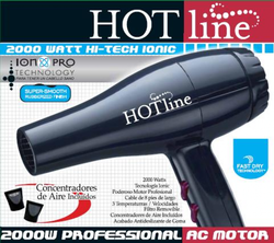 Hot Line 2000 Watt Black Ionic Hair Dryer