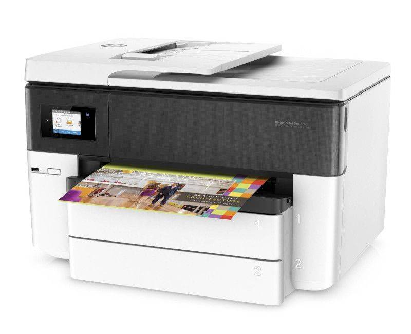 HP Officejet Pro 7740 All-in-One  Multifunction Colored Printer
