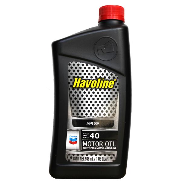 Havoline SAE 40 Motor Oil 1 Quart .946ml