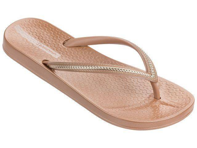 Ipanema Ana Metallic Flip Flops in Brown for Women