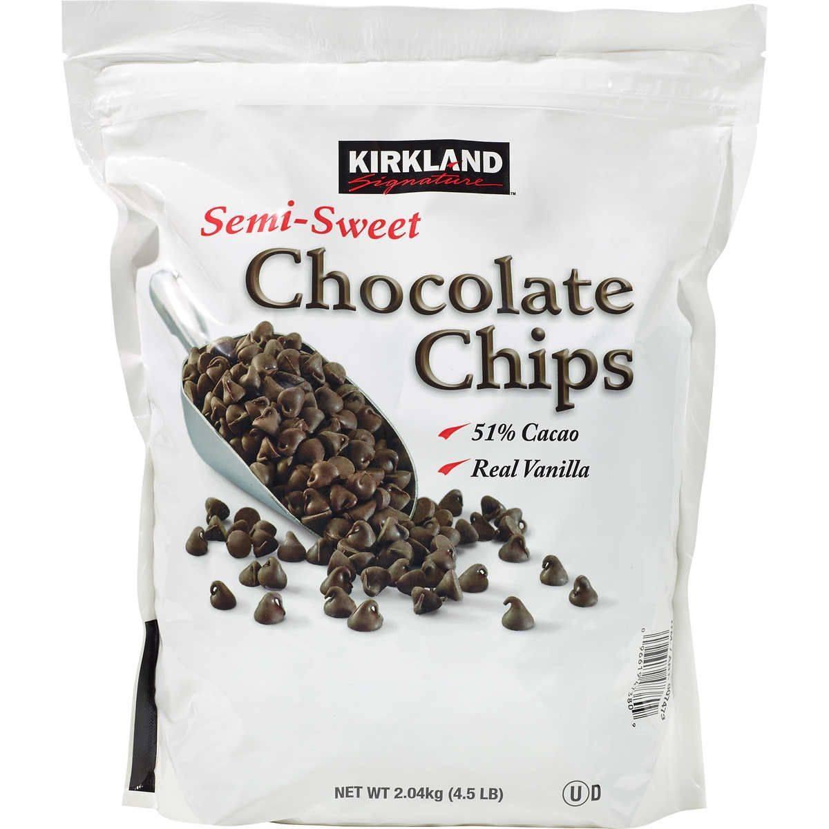 Kirkland Signature Semi-Sweet Chocolate Chips, 4.5lbs