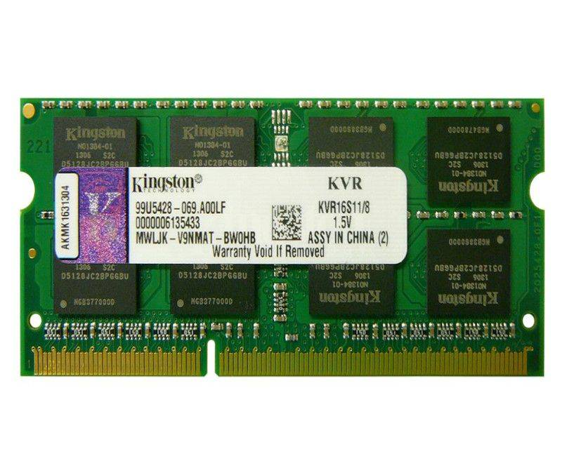 Kingston Value RAM  DDR3  8 GB KVR16S11-8
