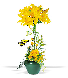 Lily Topiary Floral Arrangement