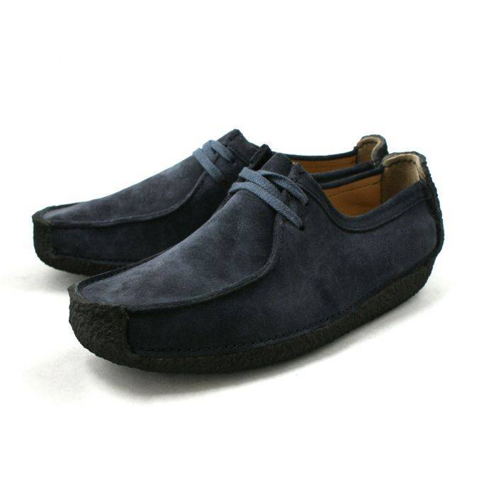 Clarks Natalie Navy Suede Shoe for Men-7.5