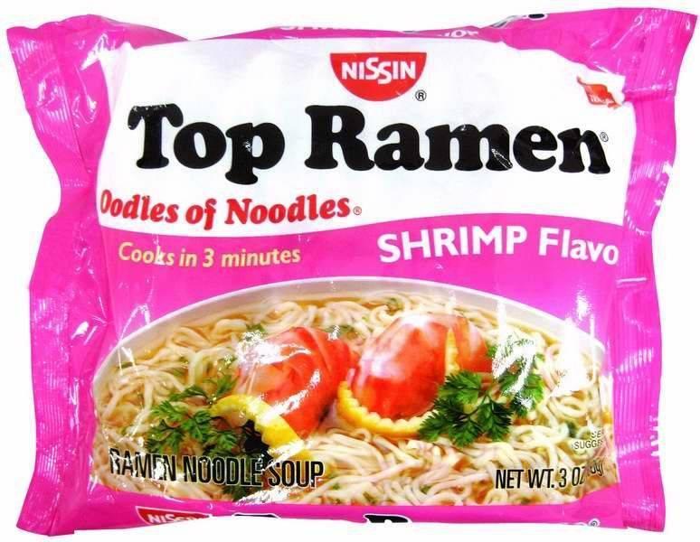 Nissin Shrimp Ramen Noodle Soup