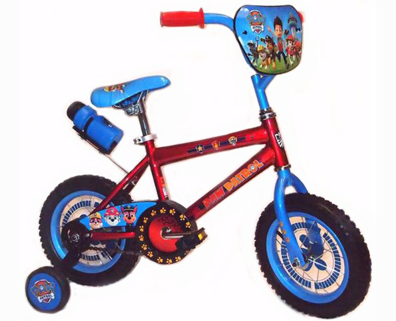"Paw Patrol Blue And Red 12"" Bicycle With Training Wheels"