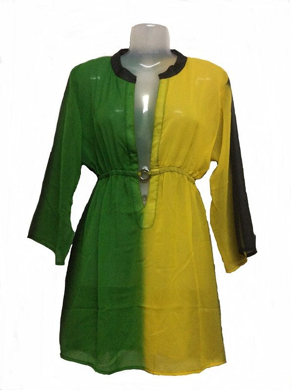 Polyester Georgette Cover Up 7112-Flag