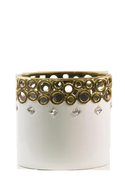 "Porcelain-Cutwork-Design-Round-8""-Vase"