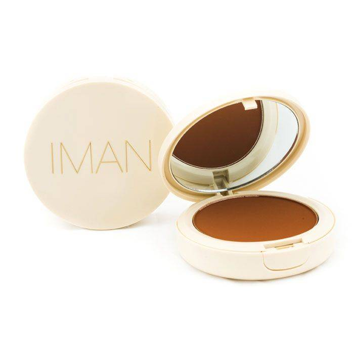 IMAN Oil-Blotting Pressed Powder, Medium Dark
