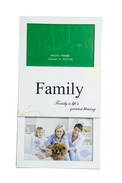 Front-view-of-Rainbow-Double-4x6-White-Family-Photo-Frame