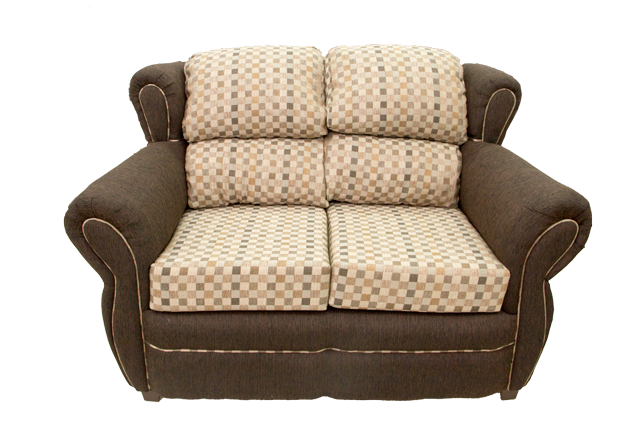 Front-view-of-Rio-2-Seat-Beige-and-Brown-Sofa