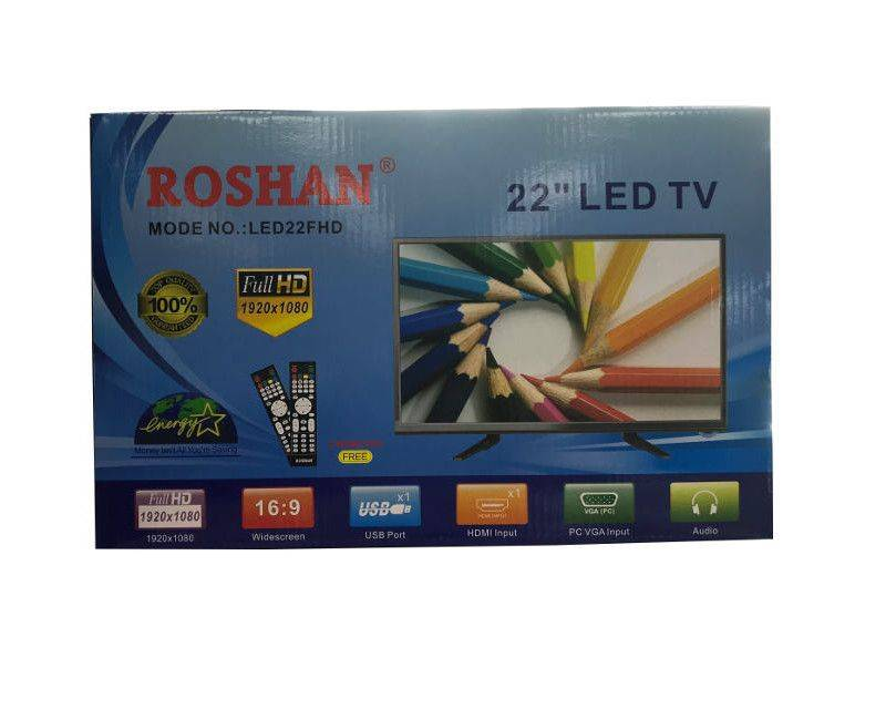 "Roshan 22"" Energy Saving LED Full HD (1920 x 1080) 2 Remote Control TV"