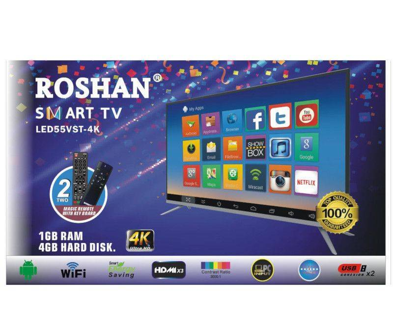 Roshan Smart LED 55 VST-4K Ultra HD 2 Magic Remote With Key Board TV box