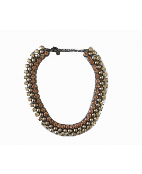 Royal Statement Necklace with Pearls and Stones