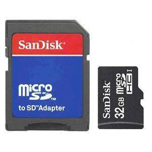 SanDisk 32GB MicroSD HC Memory Card SDSDQAB-032G with Adapter