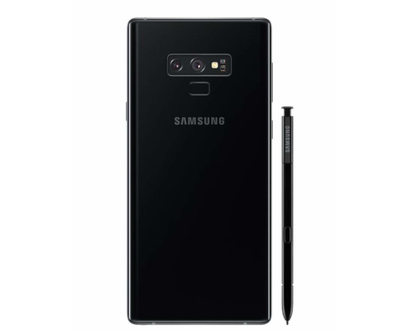 Samsung Galaxy Note 9 128GB Unlocked Smartphone showing the back of the phone