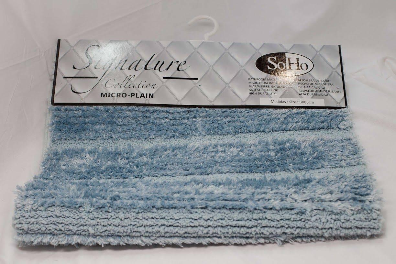 SoHo Carpets Signature Collection Micro-Plain 50x80cm in Light Blue
