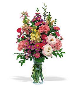 Small Mixed Vase Floral Arrangement