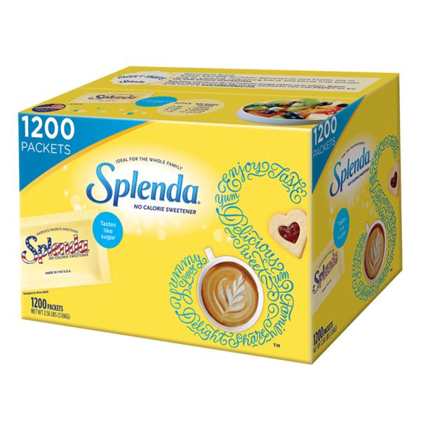 Splenda No Calorie Sweetener 1200 Individual Packets