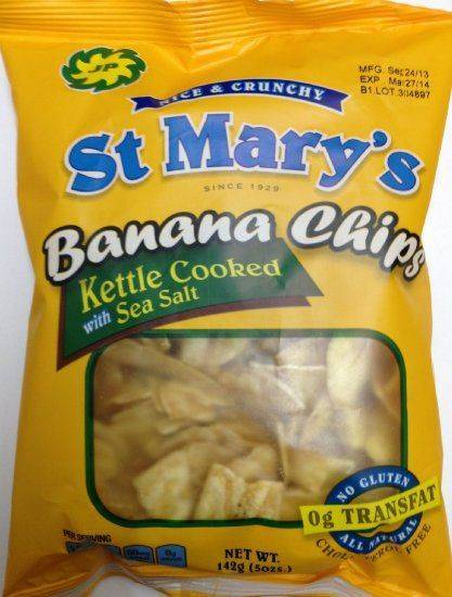 St Mary Banana Chips 142g
